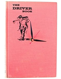 The Driver Book $40 // vintage book clock