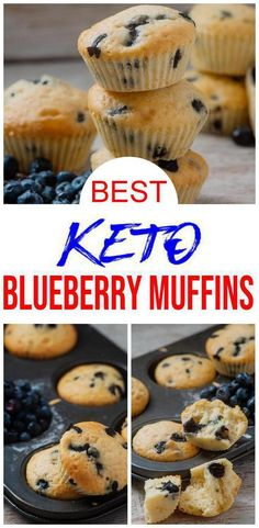 Keto Blueberry Muffins Yummy low carb muffins that are quick & easy to make.Great low carb breakfast ideas, keto dessert recipes or grab & go snack. Tasty keto recipes u will love w/ these muffins.Keto baked goods that are quick to make. Keto Blueberry Muffins, Keto Breakfast Muffins, Almond Flour Muffins, Quick Keto Breakfast, Blue Berry Muffins, Breakfast Recipes, Breakfast Gravy, Breakfast Bars, Blueberry Recipes Low Carb