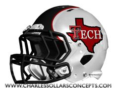Charles Sollars Concepts @charles elliott Sollars http://www.charlessollarsconcepts.com/texas-tech-red-raiders-helmet-concepts/ #texastech #redraiders #big12 #bigXII