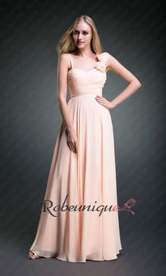 Bretelles Asymetrique Robes Demoiselle dHonneur Longue RUC055 #robe #dHonneur #longue #robeunique