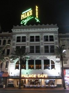 Palace Cafe, Canal Street, New Orleans: one of my all time favorite fine dining experiences!