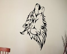 Wolf Wall Decal Animal Vinyl Stickers Home Interior Design