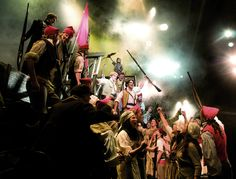 The Student Revolution - Photo by Michael Le Poer Trench #theatre #lesmis #musicals www.lesmis.com