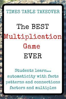 """3rd grade and 4th grade teachers, let your students play this multiplication game and see their fact fluency fly! Elementary students will have fun and learn so much about multiplication from this super fun math game. More great math resources: <a href=""""http://www.elementarymathconsultant.com"""" rel=""""nofollow"""" target=""""_blank"""">www.elementarymat...</a>"""