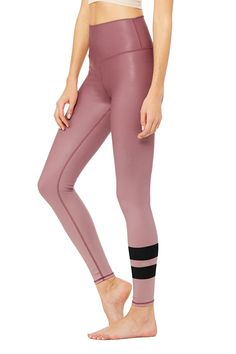 59a73851a5 The Alo Yoga Women's High-Waist Airbrush Legging in print transforms our  signature yoga pant with slimming performance fabric and new waistband for  ...