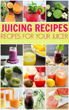Juicing Recipes | Juice Recipes for the Beginner on Frugal Coupon Living. Healthy drink ideas inspired by Fat Sick and Nearly Dead.
