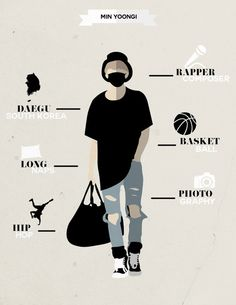 BTS SUGA ❤️ Long naps, hip-hop and photography. If you mixed Suga with D.O, you'd have me.. bits and pieces of other idols too, but those 2 pretty much sum me up.