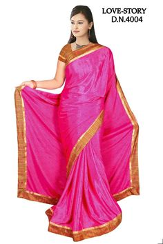 Sakshi Love Story Collection Dark Pink Color Georgette Saree (Offer Price: Rs 1300 , Offered Discount: 28%) ** BUY NOW ** [MRP: Rs 1800]