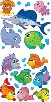 Ocean Animals Clipart For Kids Theme Tags Sea Creatures Cartoon Dolphin, Cartoon Fish, Cartoon Sea Animals, Fish Template, Fish Vector, Fish Clipart, Sea Clipart, Vector Vector, Ocean Themes