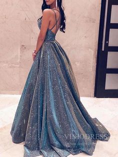Prom outfits - Fashion Ball Gown V Neck Sparkly Satin Long Prom Dresses with Pockets, Cross Back Evening Dresses – Prom outfits Prom Dresses With Pockets, A Line Prom Dresses, Homecoming Dresses, Sexy Dresses, Summer Dresses, Fashion Dresses, Long Dresses, Formal Dresses Long Elegant, Sparkly Prom Dresses