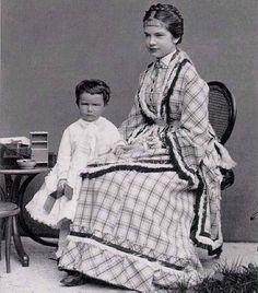 Archduchess Gisela with little Maria Valeria c 1870