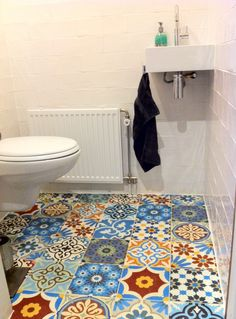 tile temptation | modflowers ✿ - Master bath?  Too much?  Maybe not if we kept the rest of the bathroom subdued.