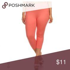 Always Solid Color  plus size Capri Leggings Always Solid Color  plus size Capri Leggings Always Pants Leggings