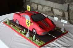 Race car groom's cake, its not a mustang but close for grooms cake, Maybe even get a cake with The Bear from the Boston Bruins