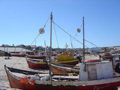 Punta del Diablo - Barcos na Playa de los Pescadores - Uruguay