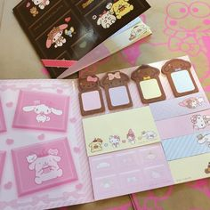 """146 Likes, 3 Comments - Sanrio Topanga (@sanriotopanga) on Instagram: """"Adorable milk chocolate Sanrio character sticky note set! #sanriocharacters #stickynotes…"""""""