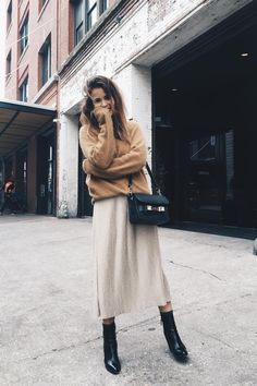 Neutral Colors and Black Boots
