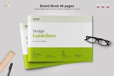 Landscape Brand Book  by Imagearea on @creativemarket Design Brochure, Creative Brochure, Branding Design, Brochure Layout, Design Agency, Logo Guidelines, Design Guidelines, Indesign Templates, Brochure Template