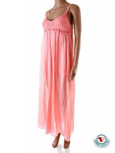 8effdf60a986 Dlhé ružové letné šaty Italia Moda Dlhé voľné ružové letné šaty s krátkou  spodničkou. Šaty