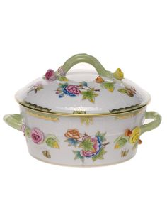 Herend Queen Victoria Small Covered Veggie Dish1.5PT 5H