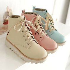 Size is for Foot B(M) US D(M) US Men = EU size 35 = Shoes length Fit foot length Sweet student Martin boots Dr Shoes, Cute Shoes, Me Too Shoes, Kawaii Shoes, Kawaii Clothes, Kawaii Outfit, Flat Boots, Shoe Boots, Shoe Bag
