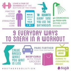 squeeze in a workout