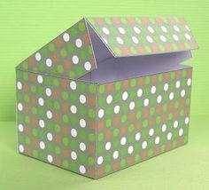 Hazel Fisher Creations: Printable rectangular Gift Box Tutorial