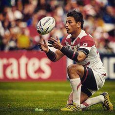 Once again #rwc2015's leading points scorer, Ayumu Goromaru's 10 points give Japan a 20-0 lead at half-time against Samoa #SAMvJPN #rugbyworldcup #rugby #braveblossoms #miltonkeynes