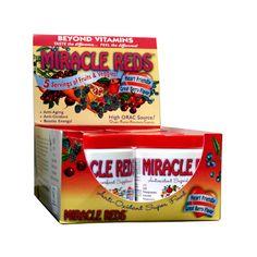 MacroLife Naturals Miracle Reds Antioxidant Super Food 6 servings (6x 2 Oz Pack)