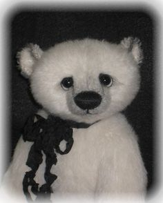 """Pattern and Instructions for an 11"""" Polar Bear By Kim Endlich $12.00"""