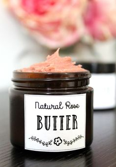 Looking for a vegan friendly moisturizer DIY? This rose body butter recipe fits the bill! Made with natural vegan ingredients, this divine body butter nourishes skin without leaving it feeling greasy or heavy.