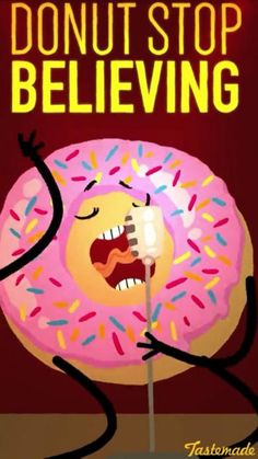 It may be National Donut Day, but every day is a great day to celebrate America's favorite pastry, the donut (or doughnut for you fancy people). We've gathered our favorite funny donut quotes to get you in the mood for the sweetest day of the year. Donut Cartoon, Donut Quotes, Food Quotes, Quotes Quotes, Punny Puns, Cute Puns, Food Puns, Food Humor, Backgrounds