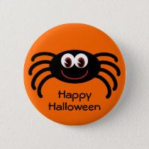 Shop Cute Orange Halloween Spider Button created by Molly_Sky. Rock Painting Patterns, Rock Painting Ideas Easy, Rock Painting Designs, Autumn Painting, Pebble Painting, Stone Painting, Halloween Rocks, Halloween Spider, Happy Halloween