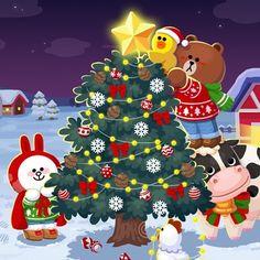 Sally Brown, Cony Brown, Sweet Boyfriend, Bunny And Bear, Kakao Friends, Kemono Friends, Merry Christmas, Christmas Ornaments, Line Friends