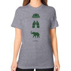 iconspeak Safari Story Unisex T-Shirt (on woman)