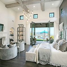 Top 60 Best Master Bedroom Ideas - Luxury Home Interior Designs - - Rest easy in luxury with the top 60 best master bedroom ideas. Explore home interior designs featuring unique bedding, wall colors and beyond. Rustic Master Bedroom, Master Bedroom Design, Home Decor Bedroom, Modern Bedroom, Bedroom Ideas, Master Suite, Contemporary Bedroom, Bedroom Furniture, Bedroom Designs