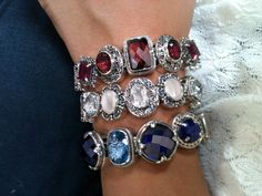 Red, White & Blue-tiful Lori Bonn Bonn Bons Bracelet
