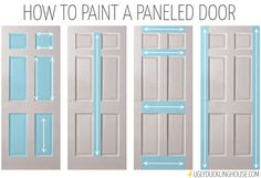 How to paint a panelled door - all these years I've been doing it wrong!