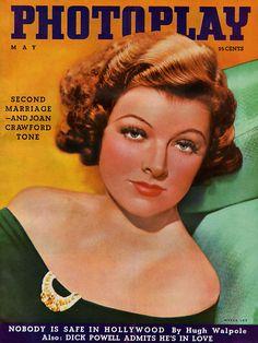 "Myrna Loy ~ ""PhotoPlay"" magazine, 1936..."