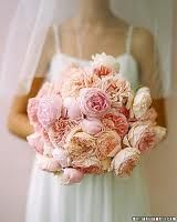 David Austin garden roses in blush and pink---great in place of peonies