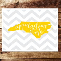 Appalachian State Print by evannicoledesigns on Etsy, $15.00
