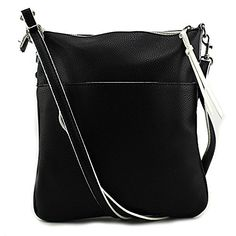 Emilie M Gloria Cross Body Bag BlackWhite One Size ** Visit the image link more details.