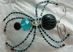 Christmas Spider  Blue & Black by goosecrossingfarm on Etsy, $24.00