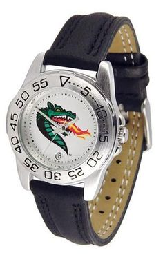 UAB Blazers Women's Leather Band Athletic Watch