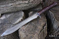 Personnalisé des gaines de machettes foto épées haches