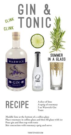 Gin & Tonic recipe - thenotepasser.com