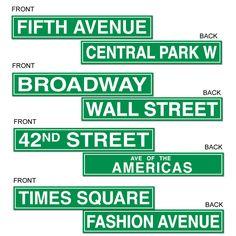 Nyc Street Sign Cutouts
