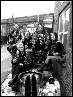 """ryanpunx: """" Myself & friends in Camden Town """""""