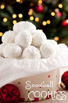 Snowball Cookies - Cooking Classy Köstliche Desserts, Holiday Desserts, Holiday Baking, Holiday Treats, Holiday Recipes, Christmas Recipes, Family Recipes, Dessert Recipes, Snowball Cookies
