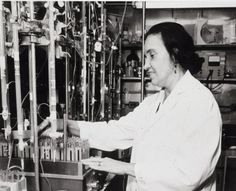 Rosalyn Yalow, the first woman born and educated in the United States to win a Nobel Prize in a scientific field.